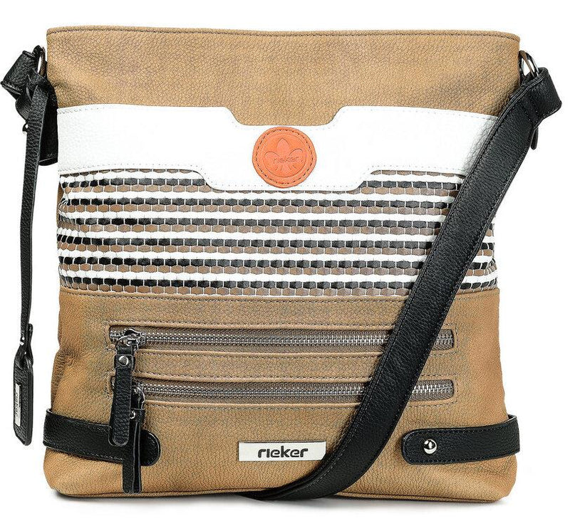 Rieker Ladies Crossbody Tan/White Handbag H1346-20 - Finn Footwear