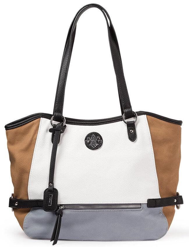 Rieker Ladies Tan/White/Grey Handbag H1066-42 - Finn Footwear