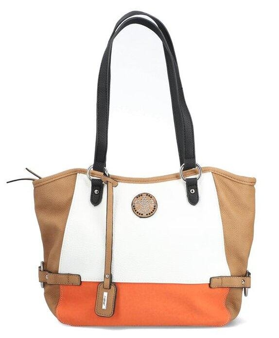 Rieker Ladies Tan/White/Orange Handbag H1039-38 - Finn Footwear