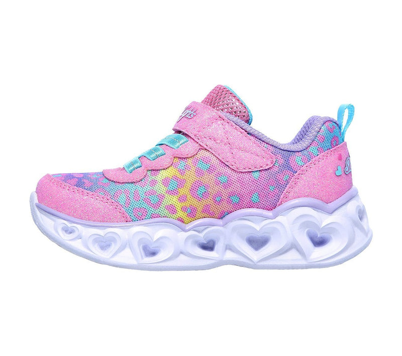 Skechers Girls Heart Lights Trainers 302088N - Finn Footwear