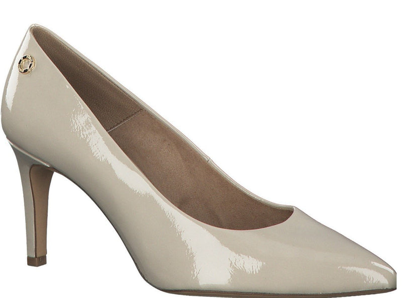 S.Oliver Ladies Ecru Court Shoe 22403-26 133 - Finn Footwear