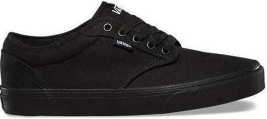 Vans Atwood Canvas Ladies and Mens Black Laced Shoes - Finn Footwear
