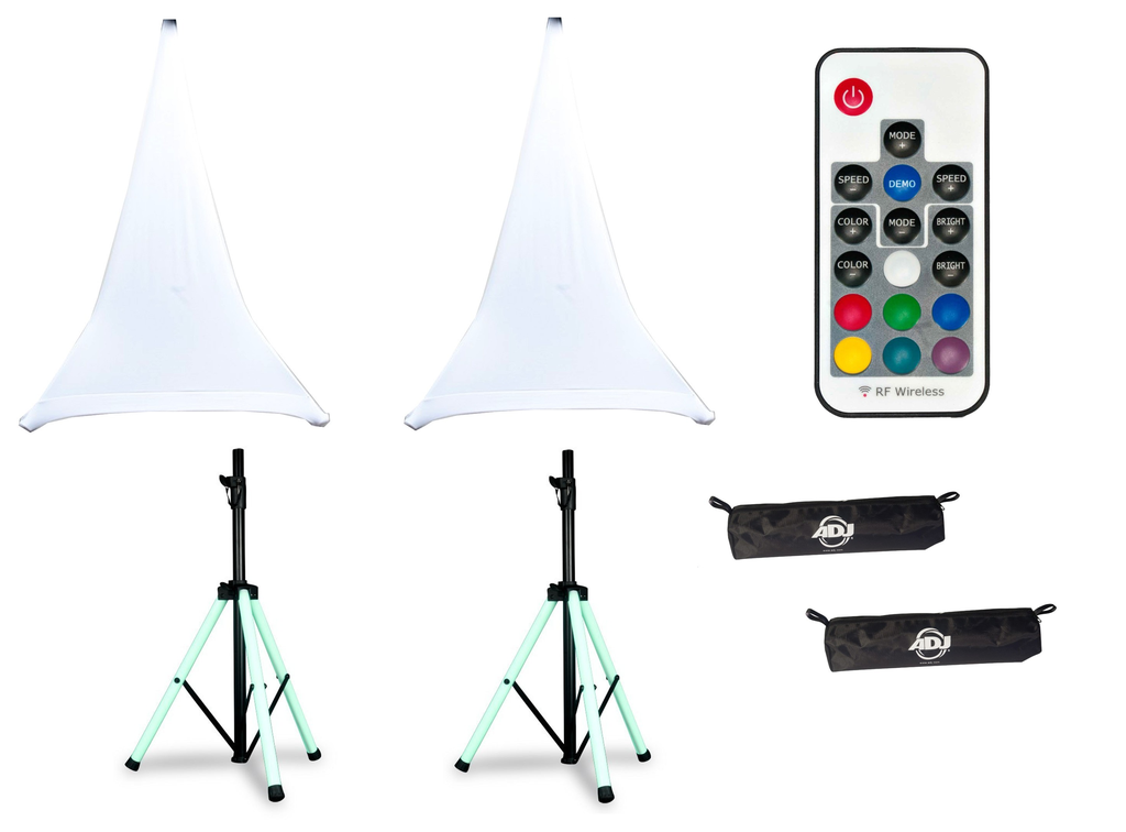 American DJ LED Speaker Stand Package