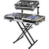Odyssey LTBXS2 Heavy-Duty Black Double-Tier Folding X-Stand - Sonido Live