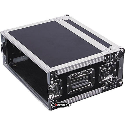 Odyssey FZER4 Flight Zone Shallow 4-Space Special Effects Rack Case - Sonido Live