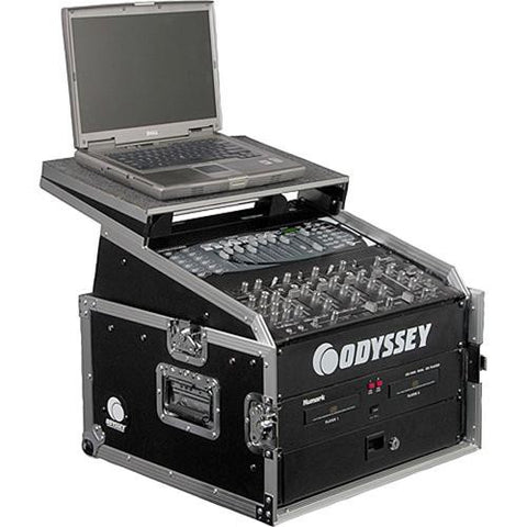 Odyssey FZGS1004 Flight Zone Glide Style Slanted Rack Case - Sonido Live