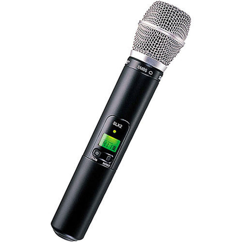 Shure SLX2 Handheld Wireless UHF Transmitter with SM86 Microphone - Sonido Live