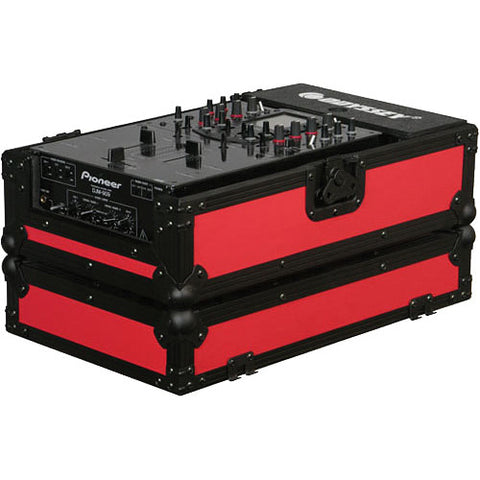 Odyssey FR10MIXBKRED Flight Ready DJ Mixer Case - Red