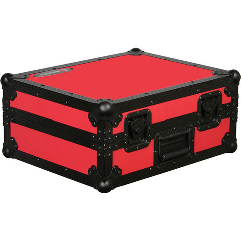 Odyssey FR1200BKRED Flight Ready Series Turntable Case - Red