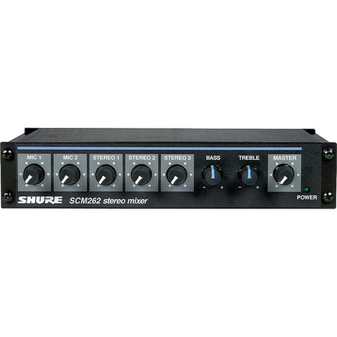 Shure SCM262 Microphone and Stereo Line Mixer