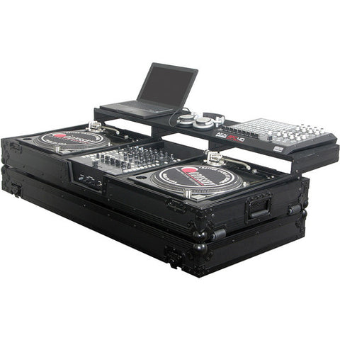 Odyssey FZGSPBM12WBL Black Label Remixer Glide Style Series Turntable DJ Coffin Case