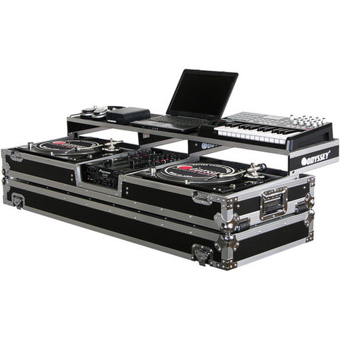 Odyssey FZGSPDJ10W Remixer Glide Style Series Turntable DJ Coffin