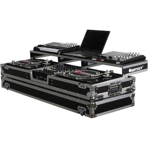 Odyssey FZGSPDJ12W Remixer Glide Style Series Turntable DJ Coffin Case