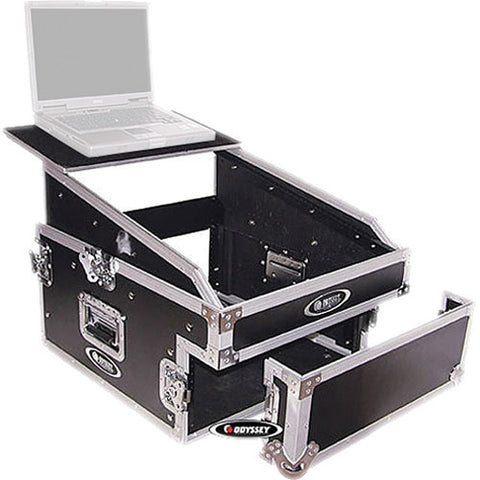 Odyssey FZGS1304 Flight Zone Glide Style Slanted 13+4 Space Combo Rack Case - Sonido Live