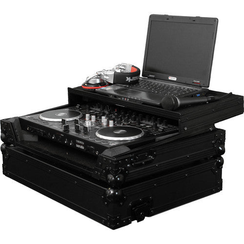 Odyssey FZGSTERMIX4BL Black Label Flight Zone Reloop Terminal 4 DJ Controller Glide Style Case - Sonido Live