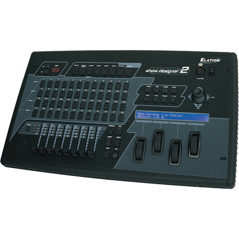 Elation Show Designer 2CF Professional Tabletop Stage Lighting Controller for DMX-512 Lighting Fixtures