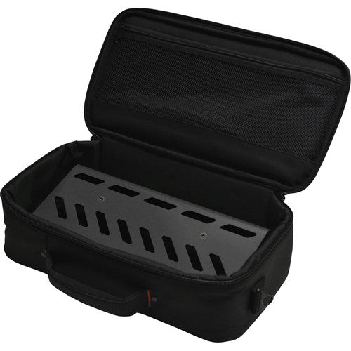 "Gator Small Aluminum Pedalboard with Bag - 15.75""x7"" Black"