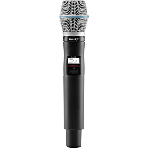 Shure QLXD2/Beta87A Handheld Wireless Transmitter - Sonido Live