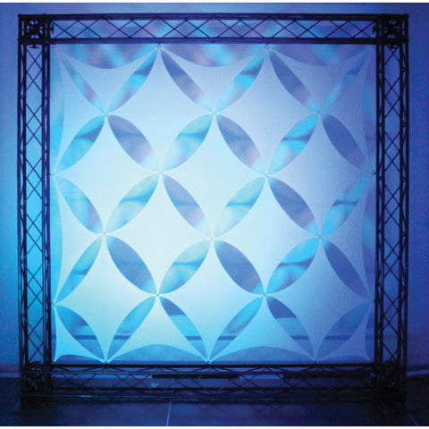 Odyssey SWDS12WHT Scrim Werks Diamond Diagonal Square Decor Panel - 16 Piece Set