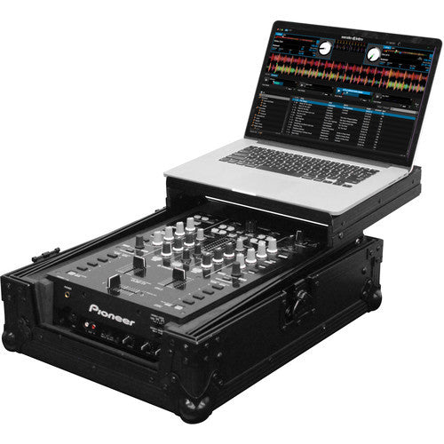 "Odyssey FZGS10MX1BL Black Label Series Low Profile Glide Style Case for a 10"" DJ Mixer - Sonido Live"