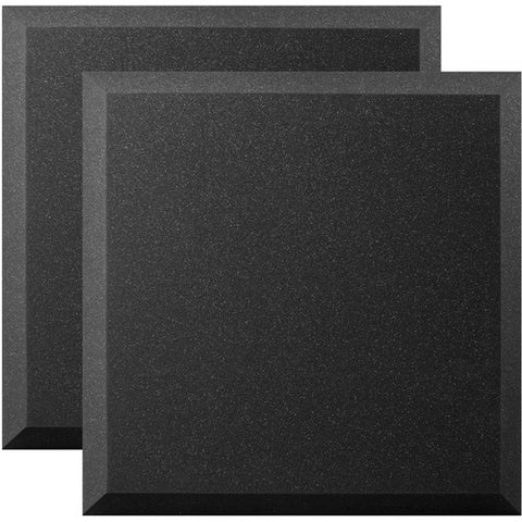 "Ultimate Support UA-WPB-24 Bevel-style Absorption Panel Professional Studio Foam - 24""x24""x2"" - Quantity of 2"