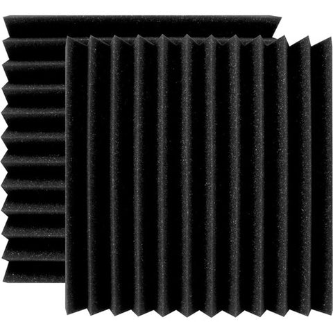 "Ultimate Support UA-WPW-12 Wedge-Style Absorption Panel Professional Studio Foam - 12""x12""x2"" - Quantity of 2"