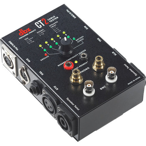 dbx CT2 Cable Tester with Speaker Twist, XLR, Phono & BNC - Sonido Live