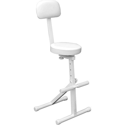 Odyssey DJCHAIRWHT Adjustable DJ Chair - White