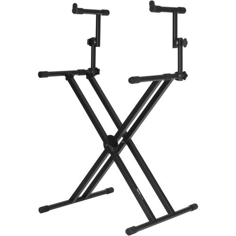 "Gator Frameworks GFW-KEY-5100X Deluxe 2 Tier ""X"" Style Keyboard Stand"
