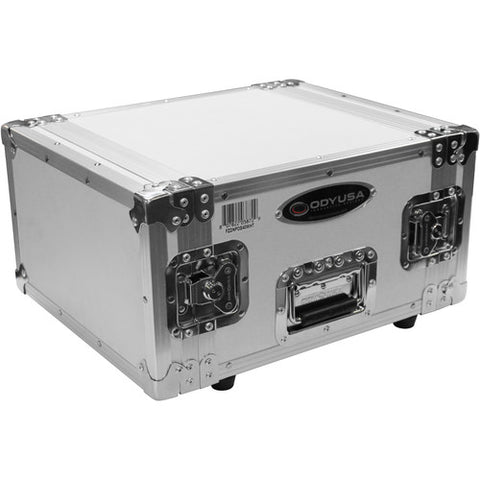 Odyssey FZDNPDS40WHT Special Edition Flight Zone DNP DS40 / DS80 Photo Booth Printer Case - White on Chrome