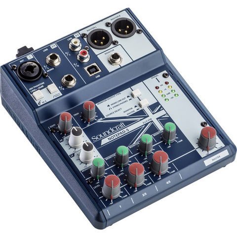 Soundcraft Notepad-5 - 5-channel Analog Mixer - Sonido Live