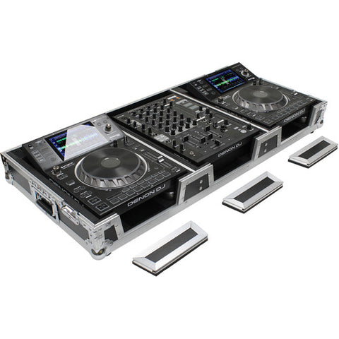 Odyssey FZ12CDJWXD Flight Zone Series Universal CD / Digital Media Player Dj Coffin with Wheels - Sonido Live