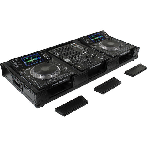 Odyssey FZ12CDJWXDBL Black Label Universal CD Digital Media Player DJ Coffin with Wheels - Sonido Live