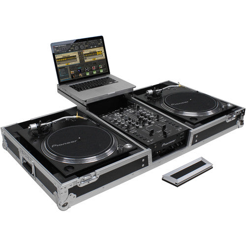 Odyssey FZGSLBM10WR Flight Zone Low Profile Glide Turntable DJ Coffin with Wheels