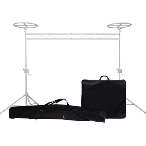 Odyssey LTMTS10HPROWHTP Halo Mobile Luxe Crank-Up Lighting Truss System Package - White