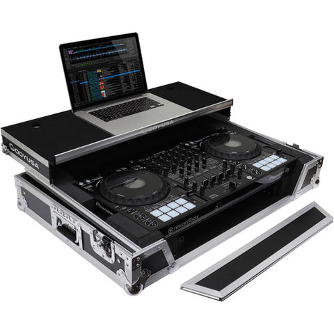 Odyssey FZGSDDJ1000W1 Flight Zone Glide Style Case for Pioneer DDJ-1000 Rekordbox DJ Controller