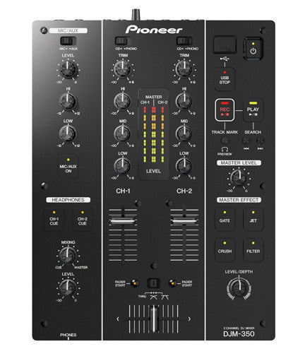 Pioneer DJM‑350 2‑Channel DJ Performance Mixer - Sonido Live