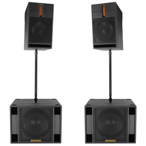 "BASSBOSS ""Mobile DJ One"" Live Sound 10,800-Watt DJ System Package - Sonido Live"