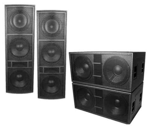 "BASSBOSS ""Bass Monster"" 14,000-Watt High-Powered Live Sound System Package - Sonido Live"