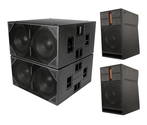 "BASSBOSS ""Bass Pounder"" Live Sound High-Powered 14,000-Watt System Package - Sonido Live"