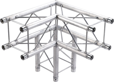Global Truss  SQ-F24-C30  - 1.64ft. (0.5m) 3 WAY 90 DEGREE CORNER - Sonido Live