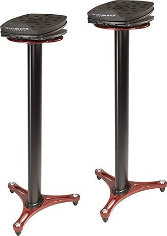 "Ultimate Support MS-100 Red 38.5"" Studio Monitor Stands"
