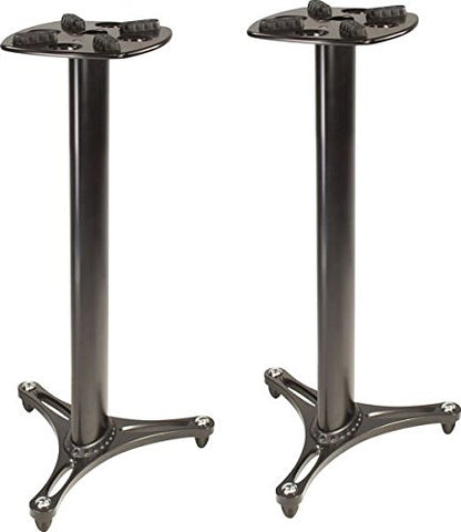 "Ultimate Support MS-90 36"" Tall, Black Finish Studio Monitor Stands"