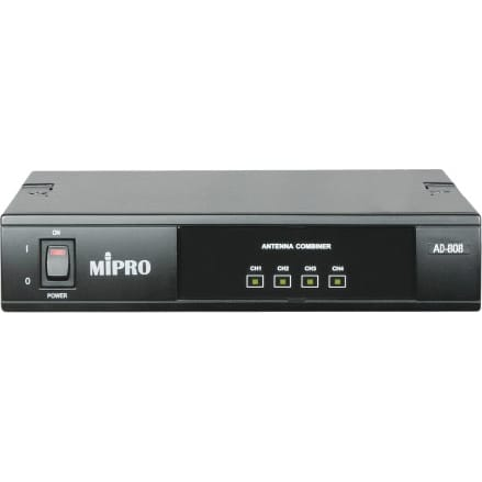 MiPro AD-808 UHF 4-channel Active Antenna Combiner
