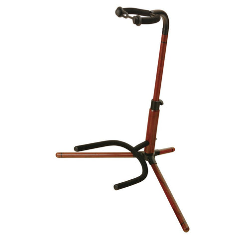 On-Stage WGS100 Wooden Guitar Stand - Rosewood finish