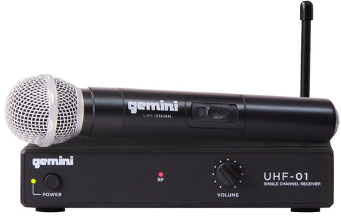 Gemini UHF-01M F1-Single Channel Wireless Microphone System
