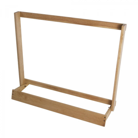 On-Stage GS7565W Guitar Case Rack - Natural Wood