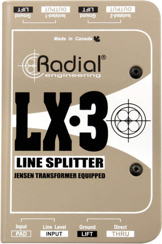 Radial LX3 3-channel Balanced Line Splitter w/Isolation