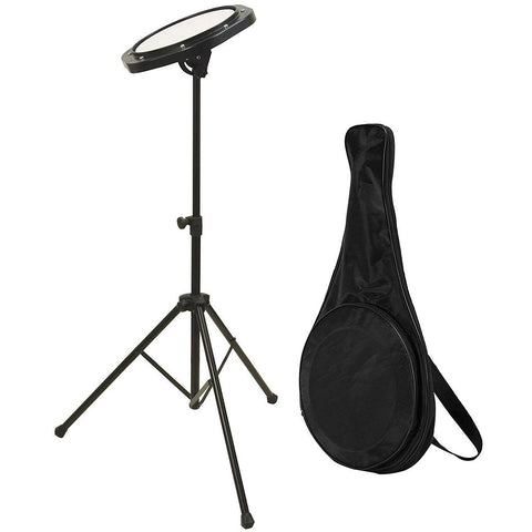 On-Stage DFP5500 Drum Practice Pad with Stand & Bag
