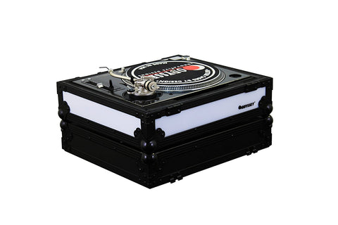 Odyssey FFX2LBM1200BL Universal Turntable Case With Dual LED Panels